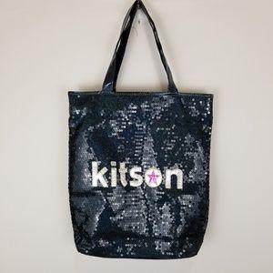 Kitson Blue Iridescent Sequin Tote